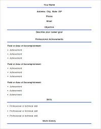 basic sample of resume