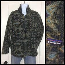 Patagonia Patterned Fleece Adorable Vintage Patagonia Fleece Half Zip Pullover Jacket Shirt Size XL