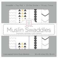 Swaddle Designs Swaddledesigns Premium Muslin Swaddle Blankets 4pk 5 Designs