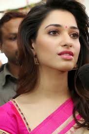 Milky White Beauty Tamanna Bhatia Looks Super Sexy In Pink Saree.