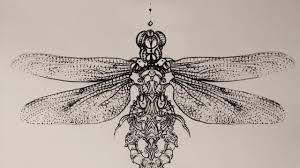 Dragonfly Trigram Steampunk Leg Sleeve Mark Day Tattoo