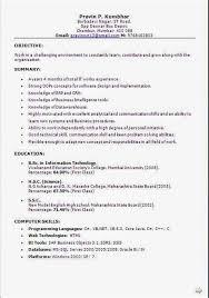 Resume Sample For Fresher Cabin Crew Cv Anand Ips