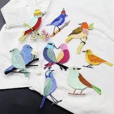 <b>1PC</b> Cartoon cute kiss <b>birds</b> patch decals clothes dress <b>embroidery</b> ...