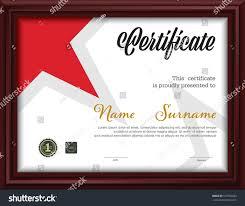 horizontal certificate templateletter size diploma vector stock  horizontal certificate template letter size diploma vector illustration