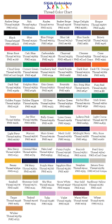 22 Expert Free Embroidery Thread Conversion Chart
