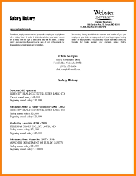 Resume Requirements. brilliant ideas of sample resume with salary ...