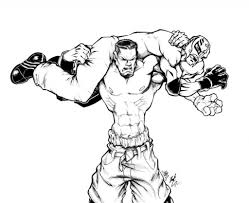 John Cena Vs Rey Mysterio Wwe Coloring Pages Coloringsuitecom