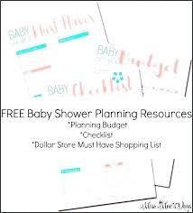 Baby Shower Planner Template Planning List Debasishdas