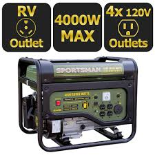 Sportsman 4 000 Watt Gasoline Powered Portable Generator with RV