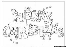 Merry Christmas Print Out Coloring Pages Printable Coloring Pages