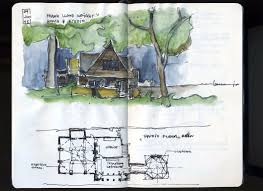 Plan W63112HD Exquisite Frank Lloyd WrightStyle House Plan  E Frank Lloyd Wright Home And Studio Floor Plan