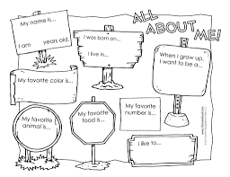 Small Picture All About Me Worksheet Tims Printables For Coloring Pages