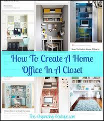 Closet Office Ideas Home Office In Closet A Organization Ideas
