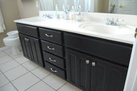 Painted Bathroom Countertops White Bathroom Cabinets With Dark Countertops
