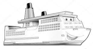 Kleurplaat Boot Stockfoto Illustratorhft 53597457