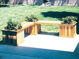 planters bench bench with planters benches for patio l shaped planter bench has three square planters planters bench