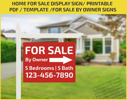Home For Sale Display Sign Real Estate Sign Home For Sale Signs House For Sale Signs For Sale By Owner Signs Pdf