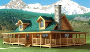creekstone log home from hochstetler milling