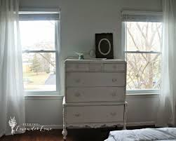 all white dresser and wall chalkpaint white dresser