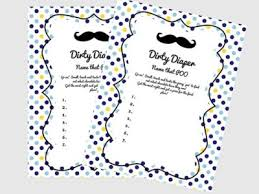 A Free Printable Mustache Baby Shower Games