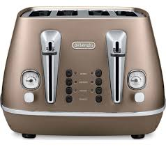 Currys Small Kitchen Appliances Buy Delonghi Distinta Cti4003bk 4 Slice Toaster Bronze Free