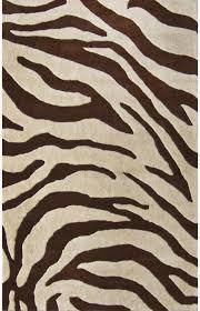 brown zebra rug