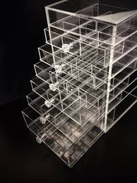 clear makeup organizer with drawers