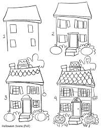 a cute haunted house for children! samhain sketches pinterest How To Draw A House Plan In Word how to draw holiday pictures how to draw a floorplan in word