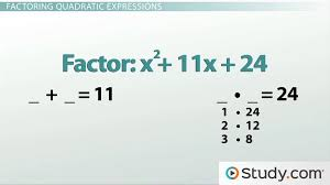 how to factor quadratic equations foil in reverse lesson transcript study com