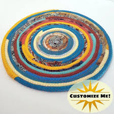 M2o Multicolor Kitchen Table Mat Sunrise Southwestern Exact Colors Vary Round Fabric Placemat