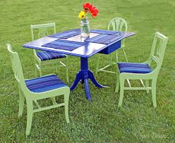 painted furniture for a outdoor dining set painted metal patio d67 furniture
