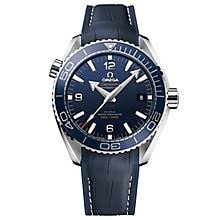 omega watches quality swiss watches ernest jones watches omega seamaster planet ocean 600m men s leather strap watch product number 4981456