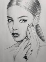 beautiful pencil face drawings nails art sketch drawing makeup hair