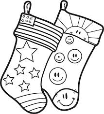 Small Picture FREE Printable Christmas Stockings Coloring Page for Kids 2
