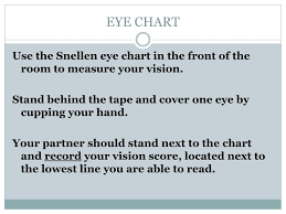 Snellen Chart Definition Ppt Eye Chart Powerpoint Presentation Free Download Id