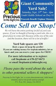 Giant Community Yard Sale Sept 19th Sell Or Shop Yard