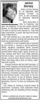 Obituary for Janice Cecilia Dorsey, 1952-2015 (Aged 52 ...