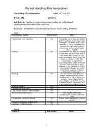 Manual Handling Assessment Chard Mac Tool Scoresheet Hse