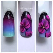 Космическая орхидея…   <b>Форма</b> ногтей, Акриловые ногти <b>формы</b> ...