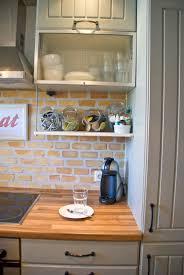 Brick Backsplash Kitchen Brick Backsplash White Cabinets