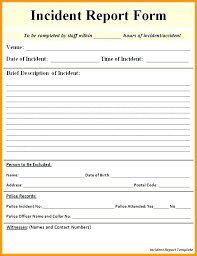 Car Accident Form Template Syncla Co