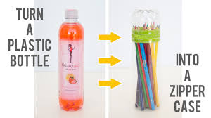 diy no sew zipper cases from plastic bottles via make it
