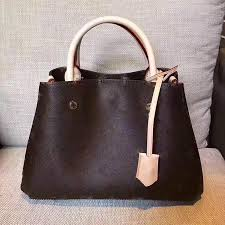 montaigne tote bag women luxury brand leather shoulder bags fl print handbags high quality cross bag 2017 business laptop bag branded handbags