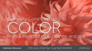 Coral Reef Paint Color 2015 Color Of The Year Coral Reef Sherwin Williams Youtube