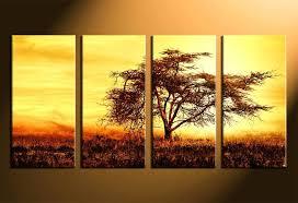 tree canvas wall art 4 piece photo canvas home decor scenery canvas wall art nature art