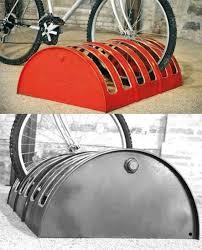 55 gallon drum bike rack love it