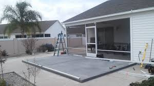 concrete patio deck concrete patio deck and screen enclosure