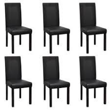 VidaDeals <b>Modern Artificial Leather Wooden</b> Dining Chairs - 6 pcs ...