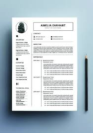 Professional Resume Template Microsoft Word Cover Letter Design