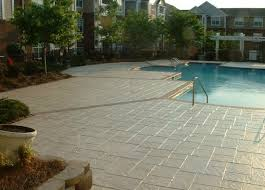 stamped concrete overlay. This Is One Of My Favorite Pictures. Job Was A Huge Undertaking, But The Reward How It Looked When We Finished Great Stamped Concrete Overlay